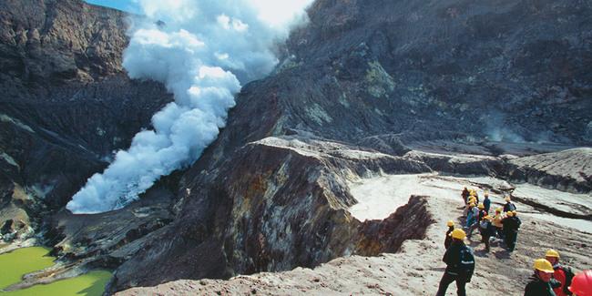 Volcan White Island Nouvelle Zélande
