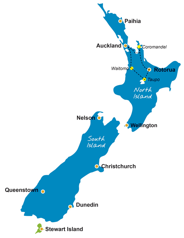 Map Of Rotorua New Zealand.New Zealand Discover The Beaches And Geysers Of The North Island